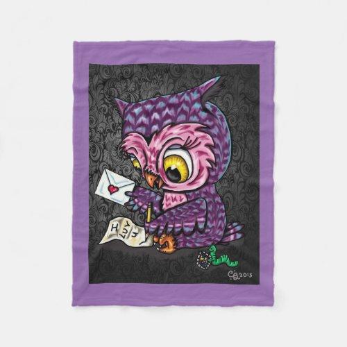 Owl Love Letter Fleece Blanket