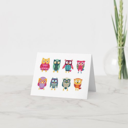 Owls Custom Note Card