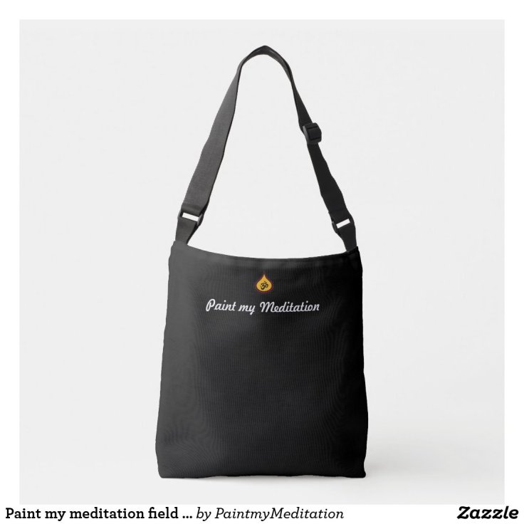 Paint my meditation field art bag