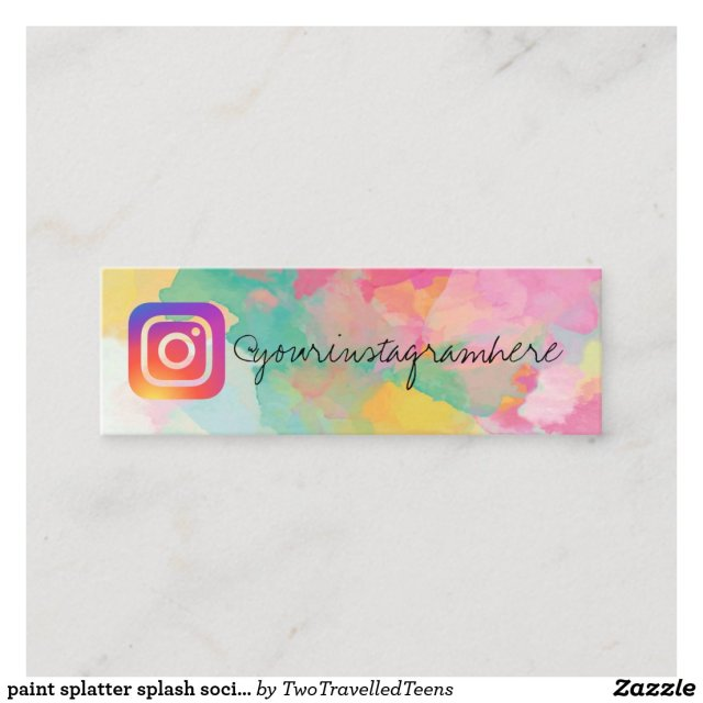 paint splatter splash social media business card
