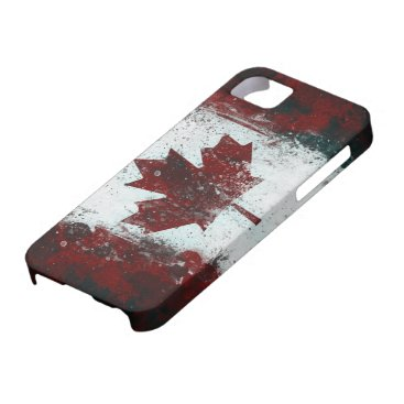 Painted Canadian Flag iPhone SE/5/5s Case