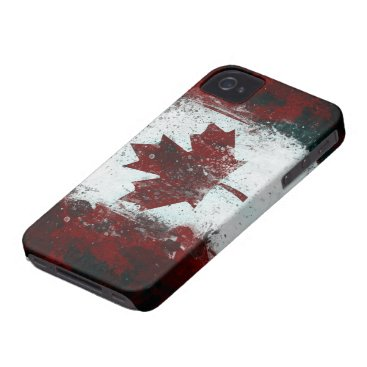 Painted Canadian Flag iPhone 4 Case-Mate Case