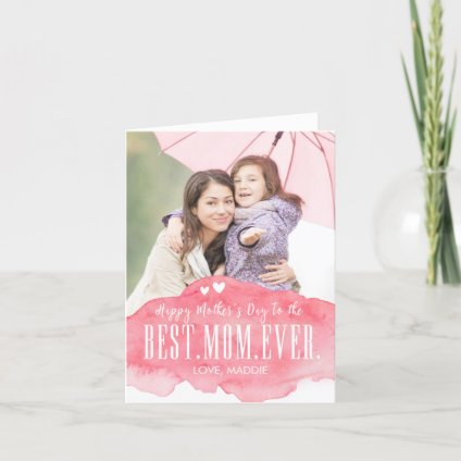 Painted Love Mothers Day Photo Card