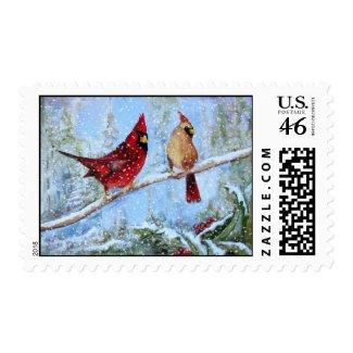 Pair of Cardinals stamp
