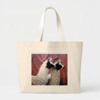 Pair of Llamas Large Tote Bag