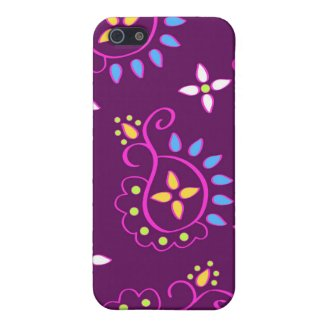 Paisley on purple cover for iPhone 5