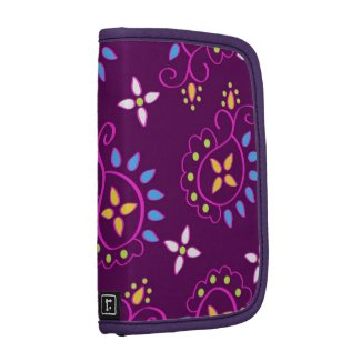 Paisley pattern on purple organizers