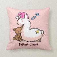 Pajama Llama Throw Pillow