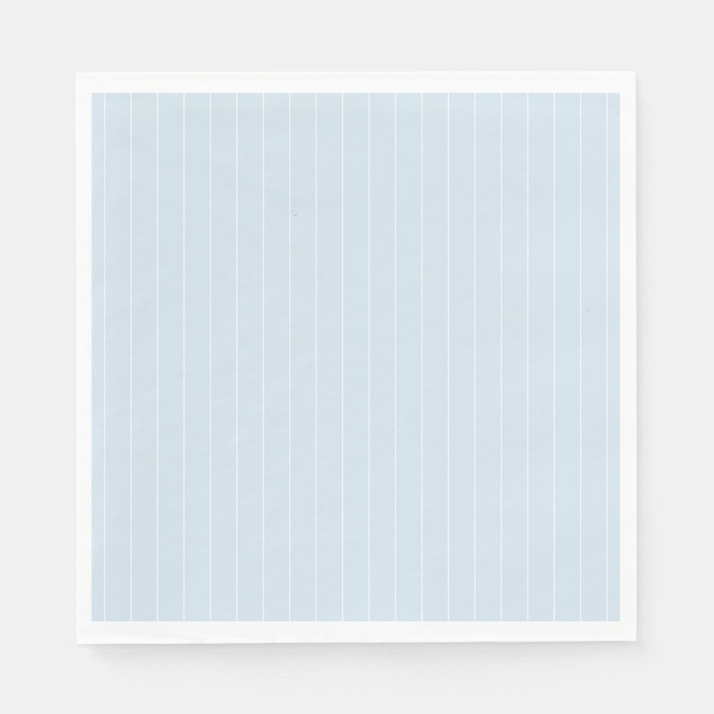Pale Blue and White Modern Pin Stripe Napkin
