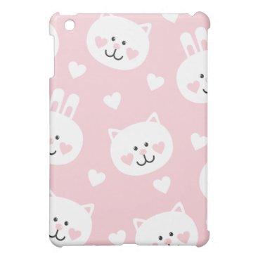 pale pink,kittens,cute,girly,kauai,trendy,hearts,w iPad mini case