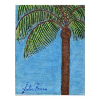 Palm Tree Poster by Julia Hanna
