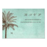 Palm Tree Tropical Wedding RSVP Response Card