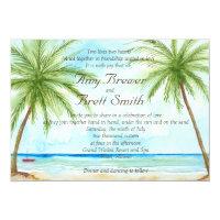 Palm Tree Wedding Invitation