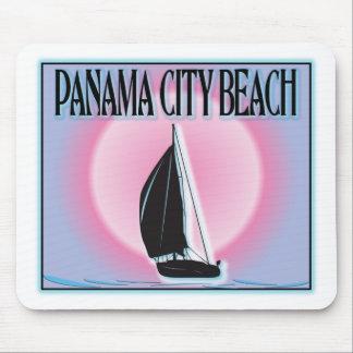 Panama City Beach Airbrushed Look Boat Sunset Mousepad