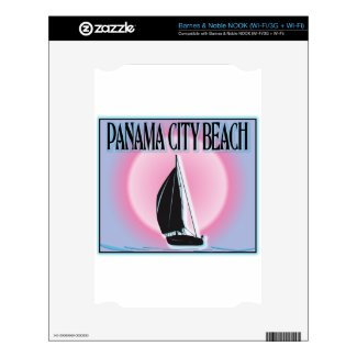 Panama City Beach Airbrushed Look Boat Sunset Decals For Nook