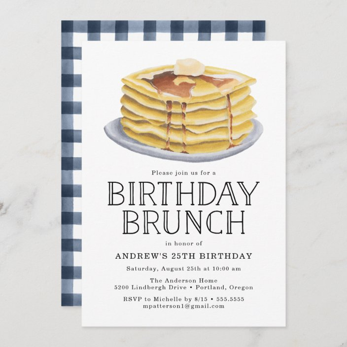 pancake brunch birthday party invitation zazzle com
