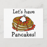 Pancakes! Invitation Postcard