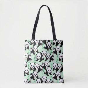 Panda Bears Graphic Tote Bag
