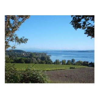 Panoramic View over Lake Constance Post Cards