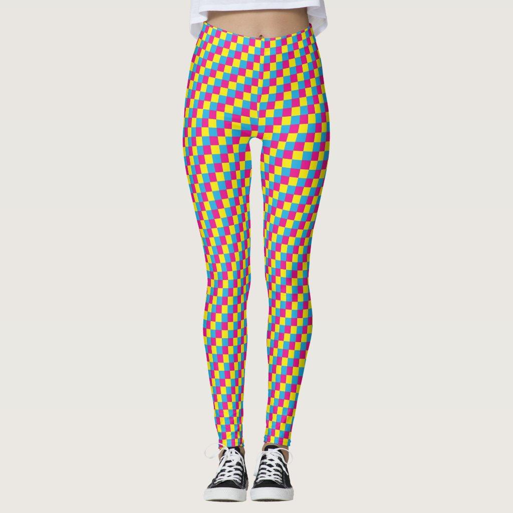 Pansexual Flag Pixels LGBT Pride Gaymer Leggings