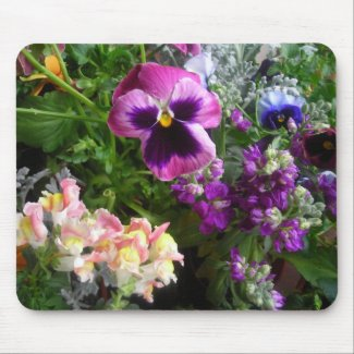 Pansy and friends mousepad