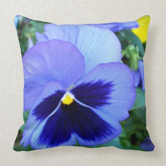 Pansy Designer Throw Pillow - Spring Flowers throwpillow