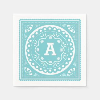 Papel Picado Paper Napkins - Blue