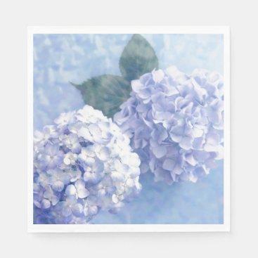 Paper Napkins-Blue Hydrangeas Napkin
