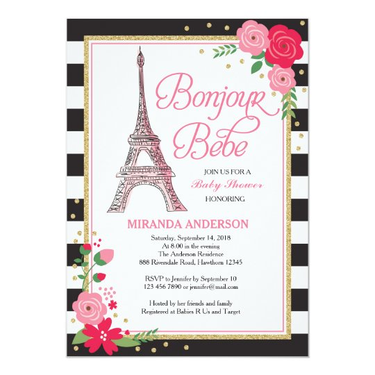 Paris Baby Shower Invitation