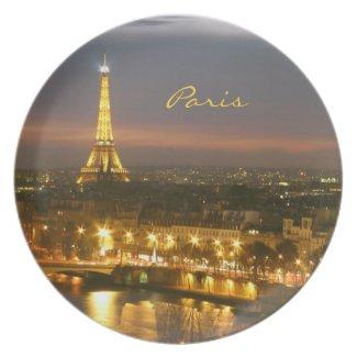 Paris by Night Plate plate
