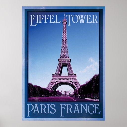 Paris France Vintage Poster Zazzle