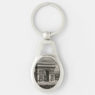 Paris vintage Arc de Triomphe 1943 Key Chains