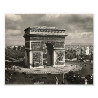 Paris vintage Arc de Triomphe 1943 Photo Print