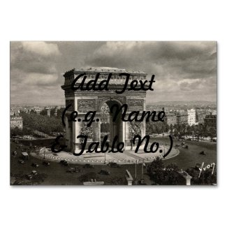 Paris vintage Arc de Triomphe 1943 Table Card