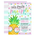 ❤️ Party Like A Pineapple Birthday Invitation