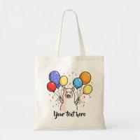 Party Llama Tote Bag