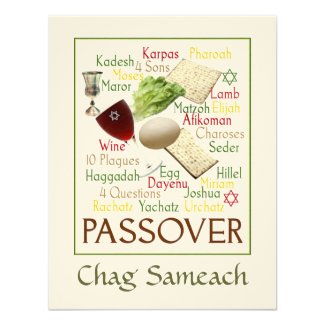 Passover Words Custom Invitation
