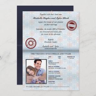 passport invitations zazzle