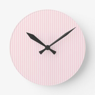 Pastel Pink Stripes. Wallclocks