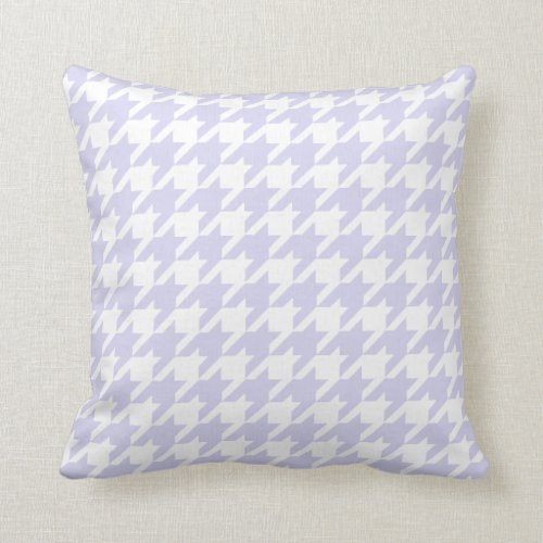 Pastel Purple Houndstooth Pattern Throw Pillow