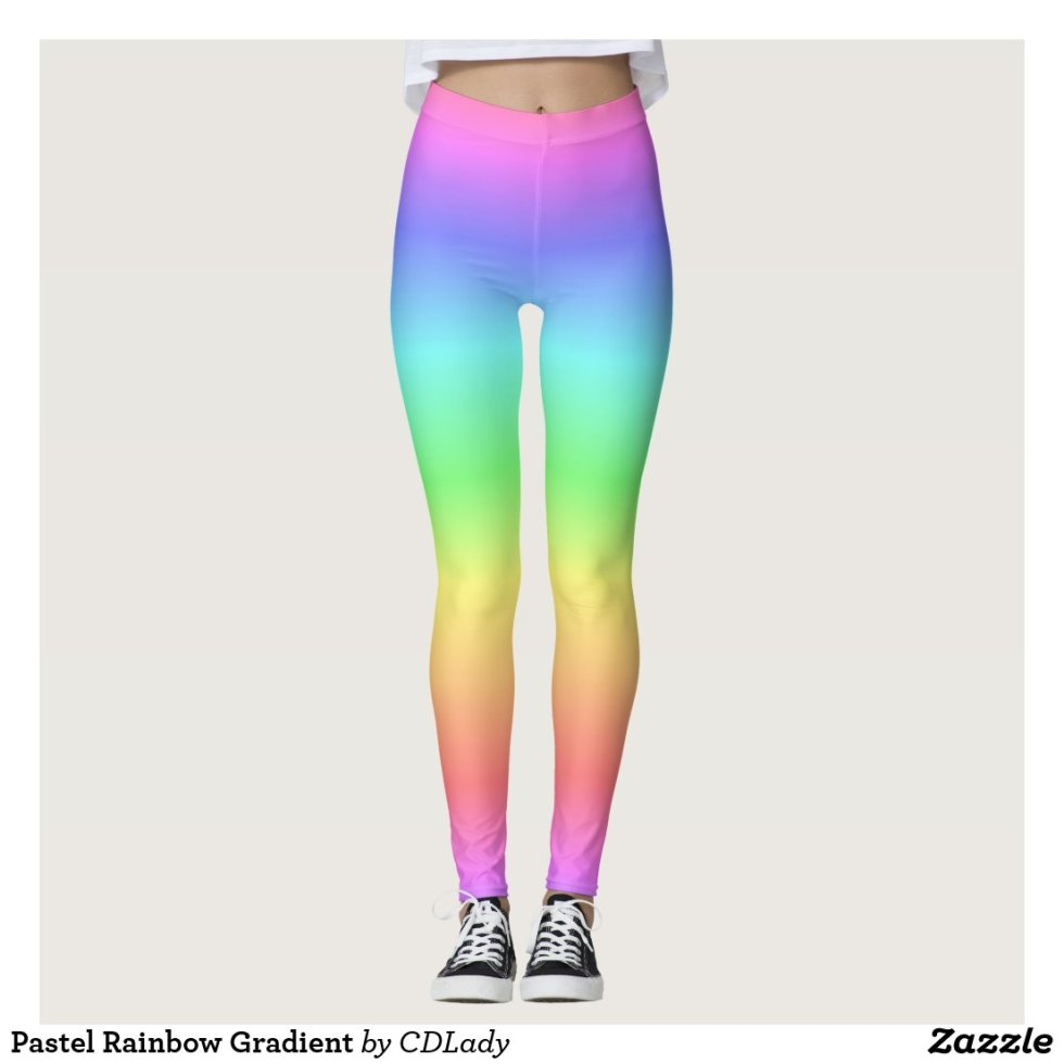Pastel Rainbow Gradient Leggings