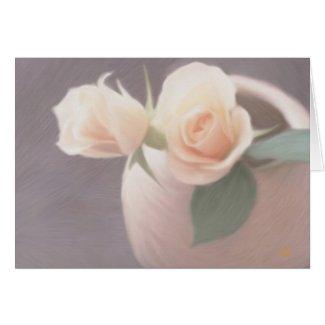 Pastel Roses & Vase Cards