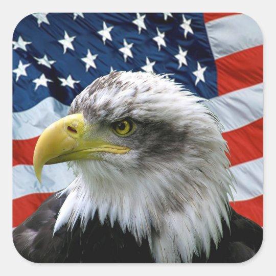 Patriotic Flag Eagle Head On
