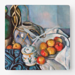 Paul Cezanne - Still Life With Apples Square Wall Clock