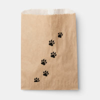 Paw prints of a cat favor bag