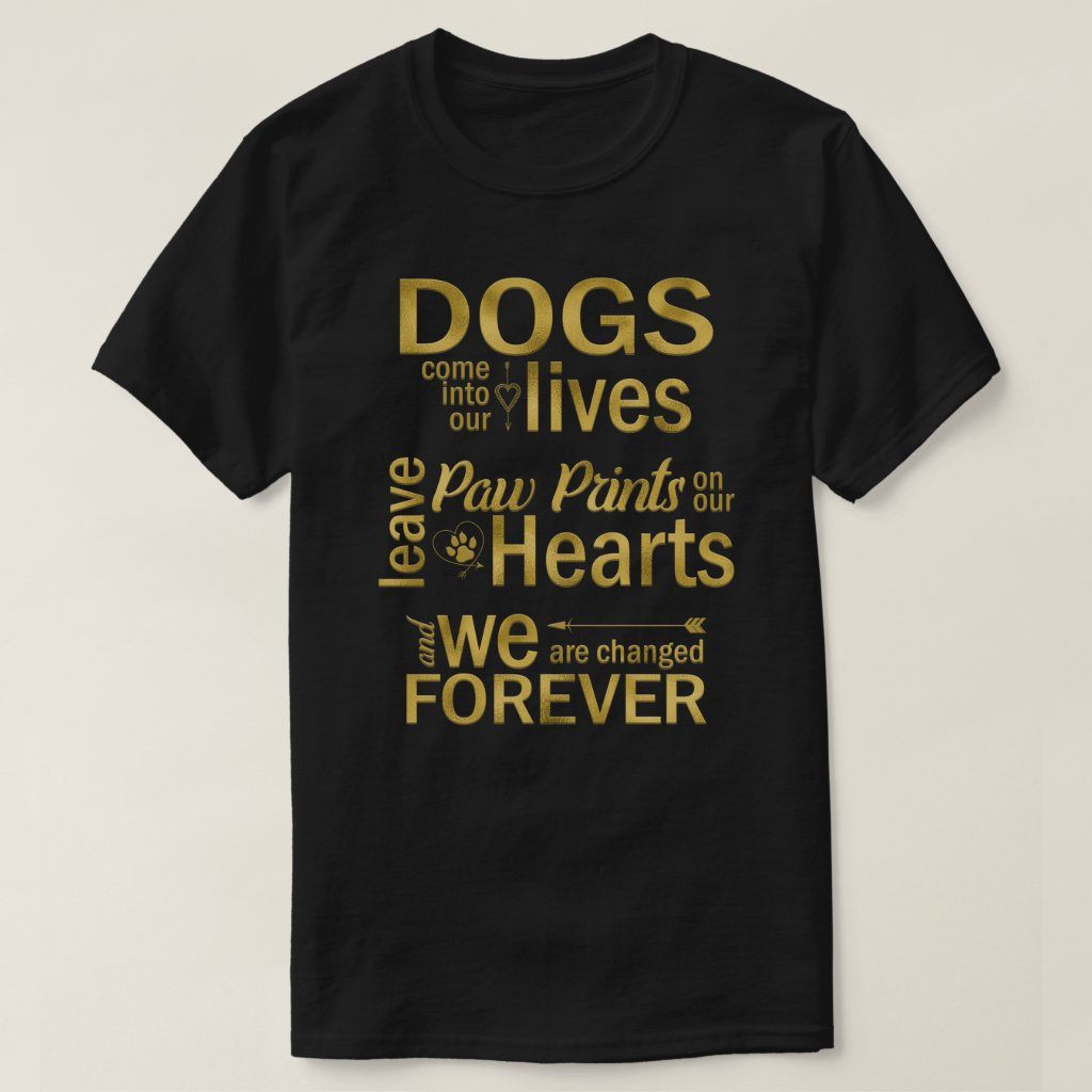 Paw Prints On Our Hearts Dog T-Shirt