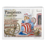 Pawprints Calendar 2020, classic 1976 reprint