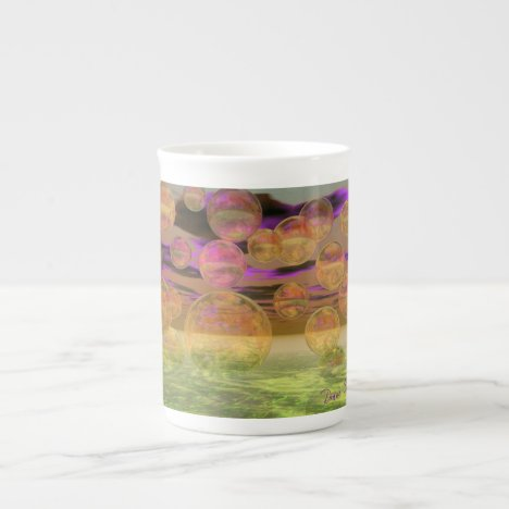 Peace in the Storm – Violet and Amber Tranquility Tea Cup