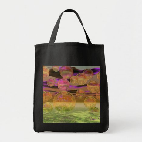 Peace in the Storm – Violet and Amber Tranquility Tote Bag