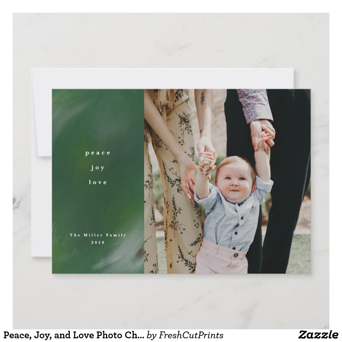 Peace, Joy, and Love Photo Christmas Card